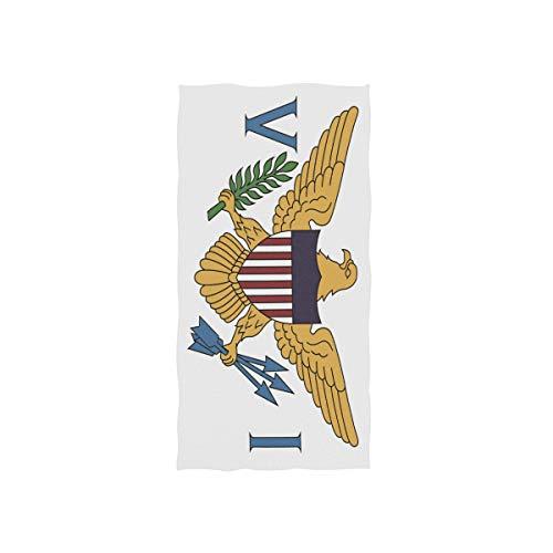 Anyangquji Virgin Islands Flag Hand Towel 30 x 15 in