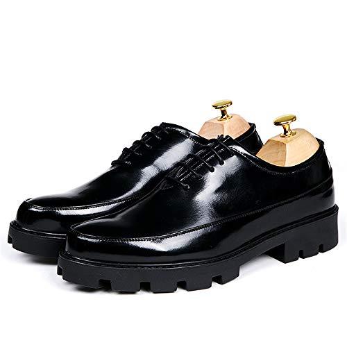 in Impermeabile Aumentata Oxford Cricket da Uomo Classic Scarpe Pelle da Sottopiede Verniciata Scarpe Casual Altezza Nero Fashion Business Vernice in Suola 0wZq0