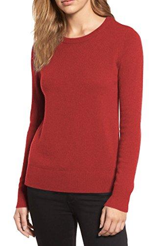 Women Crew Neck Knit Artificial Cotton Blending Pullover Sweater