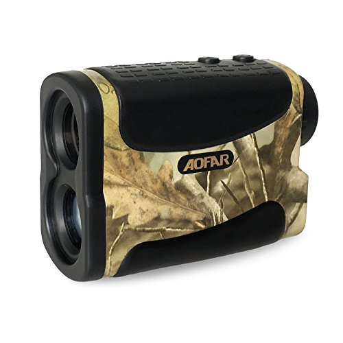 AOFAR Hunting Golf Range Finder-1000 Yards 6X 25mm Waterproof Laser Rangefinder for Archery and Bow Hunting with Range Scan Fog and Speed Mode, Free Battery, Carrying Case