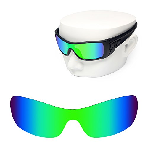 OOWLIT Replacement Sunglass Lenses for Oakley Antix Green Mirror - Lenses Oakley Antix Replacement