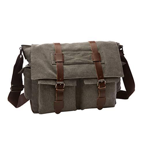 Multi Classic Vintage Durable Sling Mens Messenger Grey Shoulder pocket Waterproof Bag Canvas Chenyang q84wFx