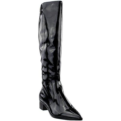 Dolce Vita Women's Morey Fashion Boot, Onyx Patent Stella, 10 Medium US (Patent Leather Knee Boot)