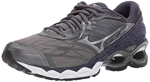 Mizuno Men's Wave Creation 20 Running Shoe, Stormy Weather-Silver 12 D US