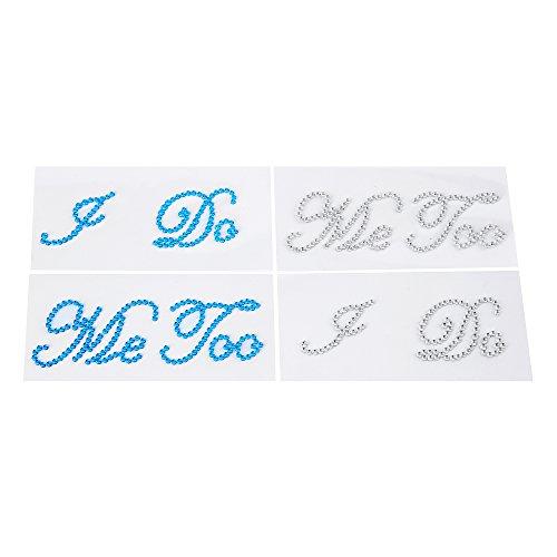 - Aiskaer 4 Wedding Rhinestone Shoe Decals Stickers -