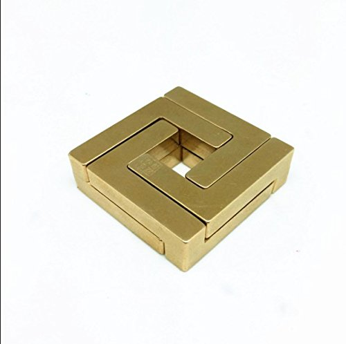 Aismkj pure brass, Luban keyhole, clear lock copper, pure hand magic gold toy, unlock adult children's puzzle chess