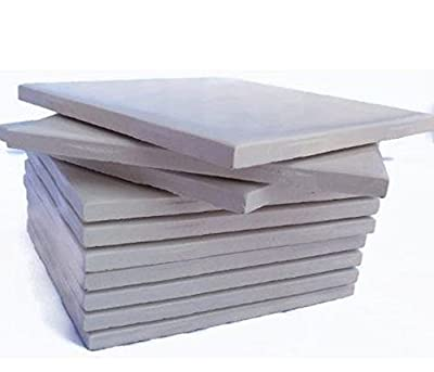 """Glossy Cream Colored Set of 10 Ceramic Tiles 4 1/4"""" By 4 1/4"""" Each Great for Painting, Craft Projects, Mosaic Tile, Tile Projects"""