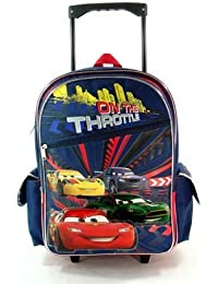 Lightning McQueen Cars Large Rolling Backpack and Gift Set
