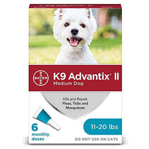 Flea and tick prevention for dogs, dog flea and tick treatment, 6 doses for dogs 11-20 lbs, K9 Advantix II (Best Heartgard For Dogs)