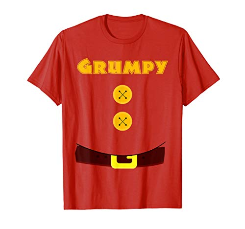 Grumpy Dwarf With Belly Halloween Costume Red Funny T shirt]()