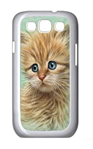 Kitten Portrait Custom Samsung Galaxy I9300/Samsung Galaxy S3 Case Cover Polycarbonate White
