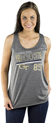 Gameday Couture NCAA Ladies GEORGIA TECH YELLOW JACKETS TRIBLEND RACERBACK TANK, GREY,Size (Georgia Tech Lady Jackets)