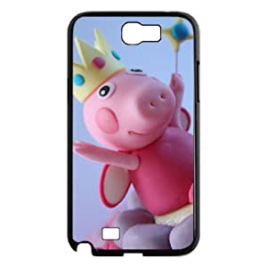 Cartoon pig Custom Cover Case with Hard Shell Protection for Samsung Galaxy Note 2 N7100 Case lxa#973742 by runtopwell