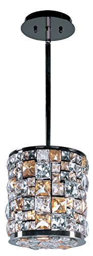Maxim 39793JCLB Fifth Avenue 3-Light Mini Pendant, Luster Bronze Finish, Jewel Crystal Glass, G9 Xenon Xenon Bulb , 100W Max., Dry Safety Rating, Standard Dimmable, Glass Shade Material, 1150 Rated Lumens