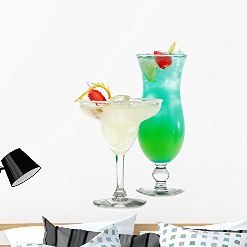 Wallmonkeys Cocktails Wall Decal Peel and Stick Business Graphics (36 in H x 26 in W) WM143298
