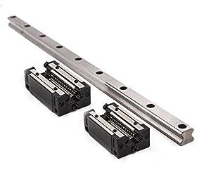 TEN-HIGH HSR15CR--1500mm Linear Rail with 2 HSR15CR Linear Slides Block Bearing by TEN-HIGH