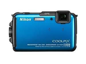 """Nikon Coolpix AW110 - Cámara compacta de 16 Mp (pantalla táctil de 3"""", zoom óptico 5x, estabilizador de imagen, WiFi, GPS), azul"""