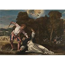 Oil Painting 'Bernardino Da Asola - The Death Of Saint Peter Martyr,1540s' Printing On High Quality Polyster Canvas , 20x29 Inch / 51x72 Cm ,the Best Gym Decoration And Home Artwork And Gifts Is This Reproductions Art Decorative Canvas Prints