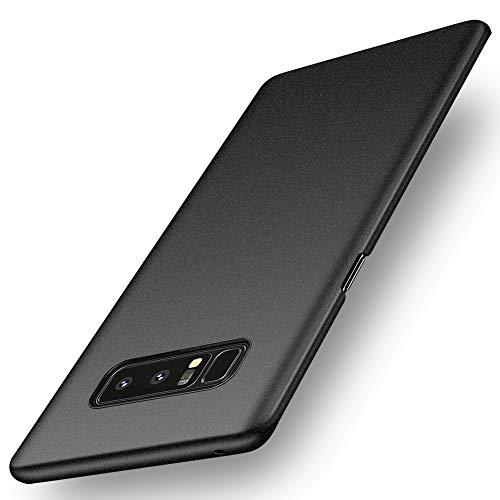 ORNARTO Note8 Case for Samsung Galaxy Note 8,Basic Series Thin Fit Shell Premium Hard Plastic Matte Finish Non Slip Full Protective Anti-Scratch Cover Cases for Samsung Note8(2017) Frosted Black