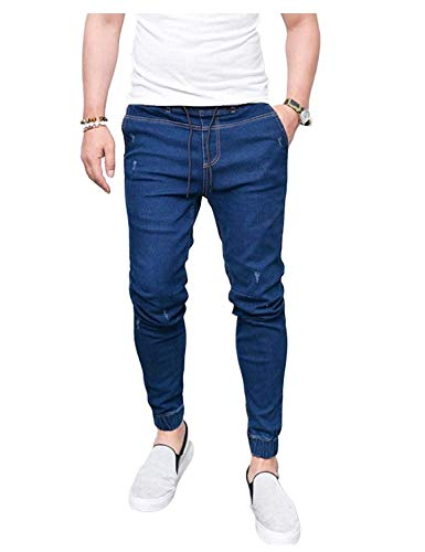 Pants Denim Stretch Casual Biker Pantalones Dunkelblau Vintage Pants Jeans Jogg Denim Fashion Pants ADELINA Pants Skinny Ropa IqwR0BnxZ