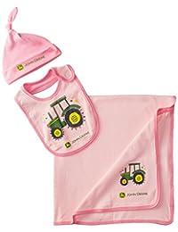 John Deere Baby-Girls Newborn Tractor Layette Set Pink