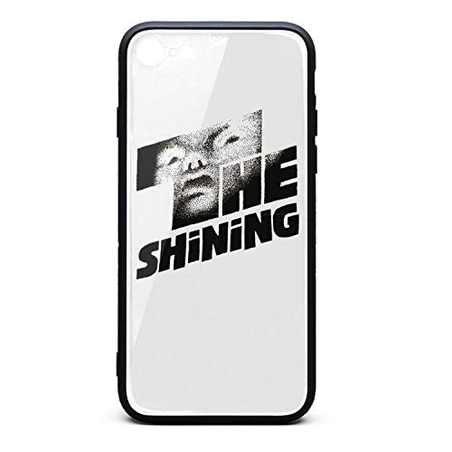 iPhone 7/8 TPU Soft Rubber Case with Hard PC Back Shell Cinema Poster Design Shock Absorption Bumper Cover Glossy