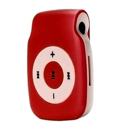 Sandistore Mini Clip Metal USB MP3 Player Support Micro SD TF Card Music Media Red