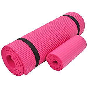 Well-Being-Matters 41-2Ea6CgNL._SS300_ Everyday Essentials 1/2-Inch Extra Thick High Density Anti-Tear Exercise Yoga Mat with Knee Pad and Carrying Strap