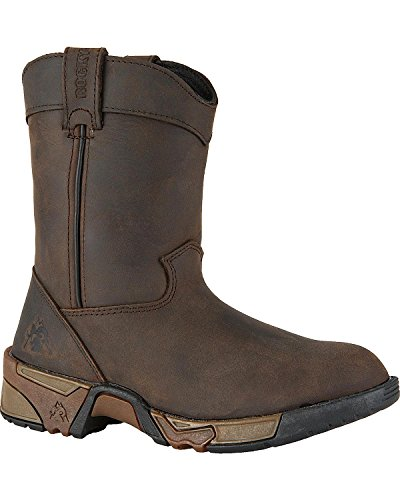 Rocky Unisex-Kids FQ0003638 Mid Calf Boot, Brown, 10.5 M US Little Kid by Rocky