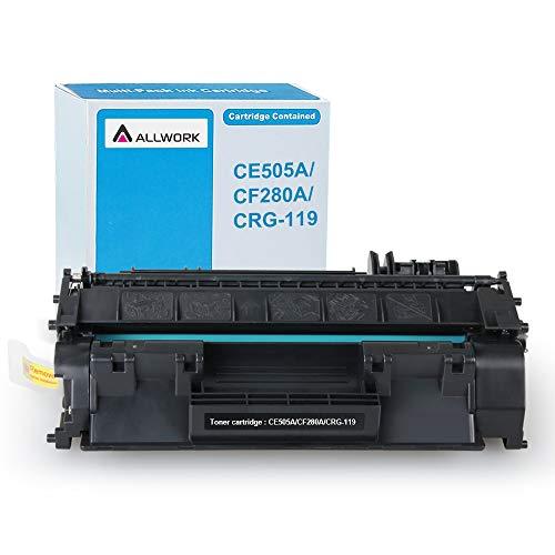 Allwork Compatible HP 80A CF280A 05A CE505A Toner Cartridge use for HP Laserjet P2035 P2055x P2055dn P2055d P2035n, HP Laserjet Pro 400 M401 M425 (Black, 1-Pack)