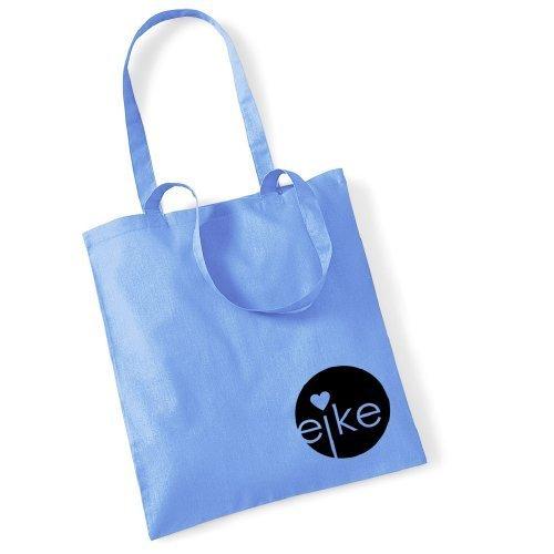Eike Tasche mit langem Henkel - Hellblau Himmelblau / Schwarz - Wien Berlin London Mailand Paris New York