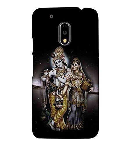 Fuson Designer Phone Back Case Cover Moto G Play  4th Gen  :: Motorola Moto G4 Play  Radha And Krishna With Stars