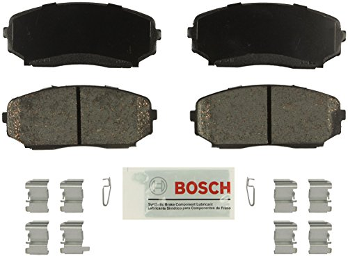 Bosch BE1258H Blue Disc Brake Pad Set with Hardware For: Ford Edge; Lincoln MKX; Mazda CX-7, CX-9, ()