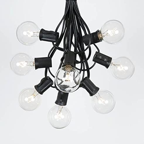 Amazon 25 foot g40 outdoor lighting patio globe string lights 25 foot g40 outdoor lighting patio globe string lights clear black wire 25 mozeypictures Gallery