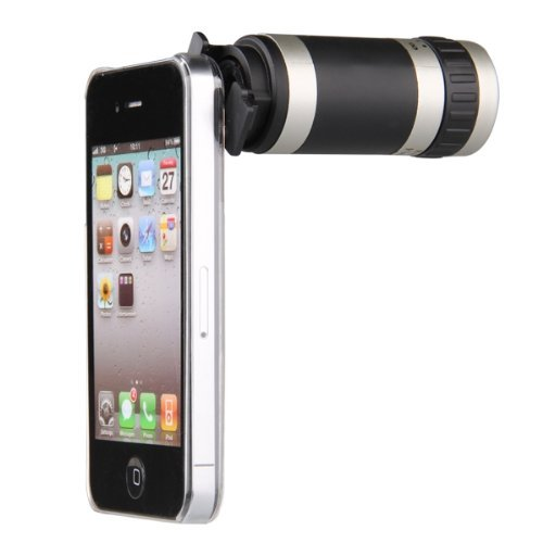 SODIAL(R) 8x Zoom Kamera Telescope Objektiv Huelle Case Cover fuer iPHONE 4 4S