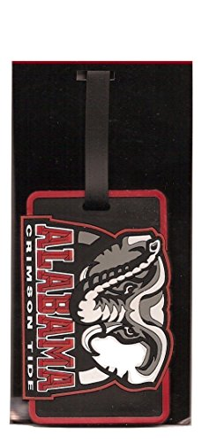 Alabama Crimson Tide ID Tag Travel Luggage Bag Tag Alabama Crimson Tide Luggage Tag
