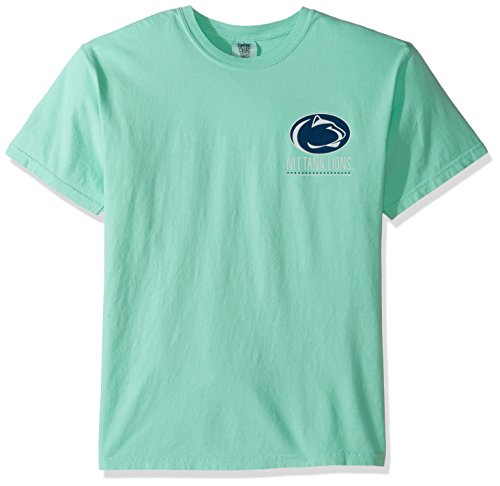 Image One NCAA Penn State Nittany Lions Life Is Better Comfort Color Short Sleeve T-Shirt, Island (Penn State Colors)