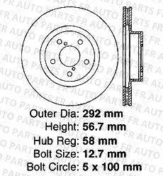 8 Semi-Metallic Pads 4 Black Coated Cross-Drilled Disc Brake Rotors 5lug High-End Fits:- Subaru Front+Rear Kit