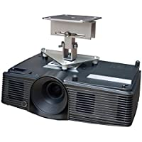 PCMD, LLC. Projector Ceiling Mount Compatible with Optoma EH341 GT1070X GT1080 H112e H182X HD141X HD26 with Lateral Shift Coupling (5-Inch Extension)