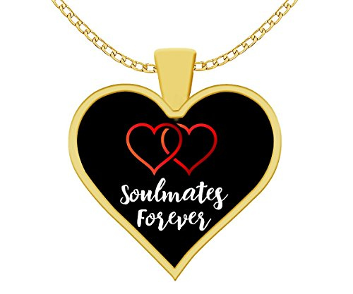 Girlfriend Gifts, Him to Her, Lovers, BFF, Soulmates Forever, Gold-Plated, Pendant, Necklace, Keepsake (Mate Dolphins Soul)