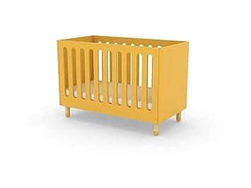 Alfred & Compagnie - Lit bébé avec sommier 60x120 Flexa jaune ...