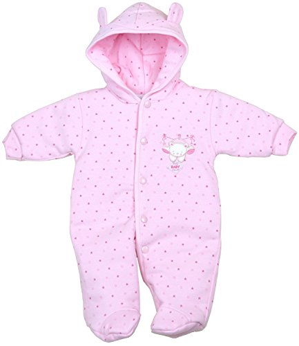BabyPrem Preemie Baby Cotton Snowsuit Pramsuit Clothes Teddy Girl 3-5lb PINK