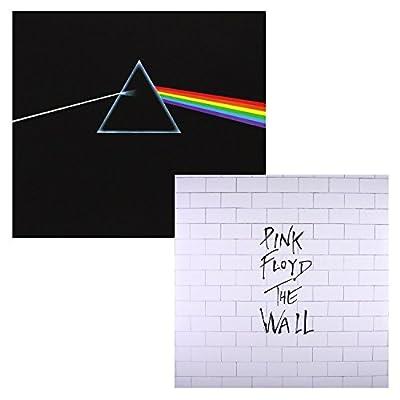 Pink Floyd - The Dark Side Of The Moon - The Wall - Pink Floyd - HQ Remastered Original Vinyl 180g - 2 LP Vinyl Album Bundling Limited Edition, Box set
