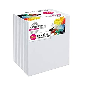 PHOENIX Pre Stretched Canvas for Painting – 5×7 Inch / 7 Pack – 5/8 Inch Profile of Super Value Pack for Oil & Acrylic Paint