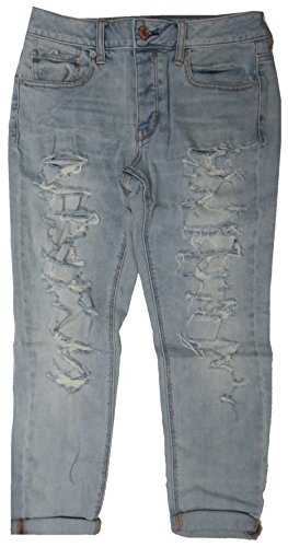 Juniors American Eagle (American Eagle Outfitters Womens Tomgirl Denim Blue Jeans (4))