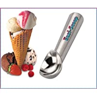 NEW! Eazi Scoop ice cream scoop with a Special Gel Filling easily scoops even the hardest of ice cream. No need to warm under a hot tap as it works by just the warmth of the hand on the handle.