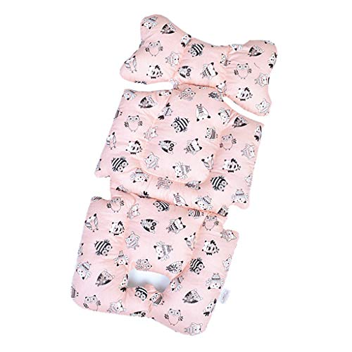 Toygogo Baby Seat Liner for Infant Stroller – Universal Baby Stroller Seat Pad – Breathable Cotton Cushion – 3 Styles – 72cm35cm – Pink Owl, 72x35x4cm