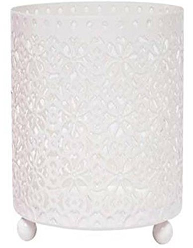 Hosley's Large White Jar Candle Lace Sleeve / LED Lantern Ideal GIFT for Wedding Day, Party favor, weddings, Spa, Reiki, Meditation, Bathroom Votive Tealight LED Tea light Candle Garden BPTOO O7 (Holder Candle Sleeve)