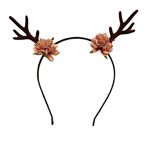 Antler Headband Hair Hoop Deer Horn Hair Clips for Halloween Christmas NFG02 (Antler Hair Hoop)]()