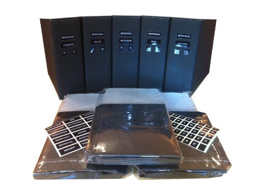 DVD Binder & Sleeves Bulk Storage Pack for 100 DVDs (Black) by DVDBINDERS by DVDBINDERS
